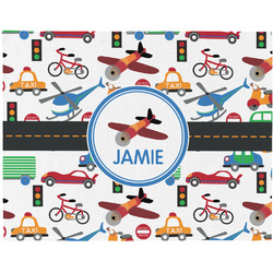 Transportation Woven Fabric Placemat - Twill w/ Name or Text
