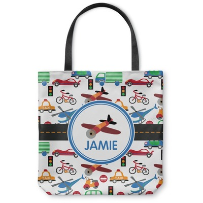 Transportation Canvas Tote Bag (Personalized)