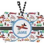 Transportation Rear View Mirror Ornament (Personalized)