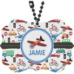 Transportation Rear View Mirror Charm (Personalized)
