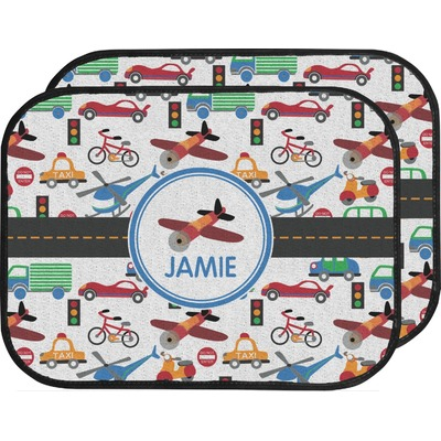 Transportation Car Floor Mats (Back Seat) (Personalized)