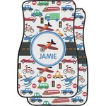 Transportation Car Floor Mats (Front Seat) (Personalized)