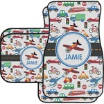Transportation Car Floor Mats Set - 2 Front & 2 Back (Personalized)