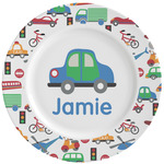 Transportation Ceramic Dinner Plates (Set of 4) (Personalized)