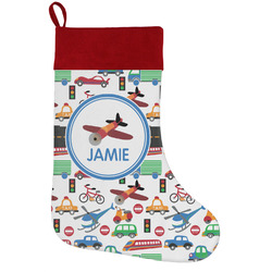 Transportation Holiday Stocking w/ Name or Text