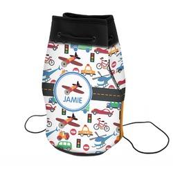 Transportation Neoprene Drawstring Backpack (Personalized)