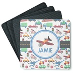 Transportation 4 Square Coasters - Rubber Backed (Personalized)