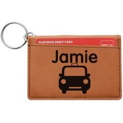 Transportation Leatherette Keychain ID Holder (Personalized)