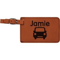 Transportation Leatherette Luggage Tag (Personalized)