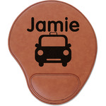 Transportation Leatherette Mouse Pad with Wrist Support (Personalized)