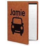 Transportation Leatherette Portfolio with Notepad (Personalized)