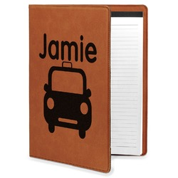 Transportation Leatherette Portfolio with Notepad (Personalized)