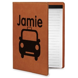 Transportation Leatherette Portfolio with Notepad - Small - Single Sided (Personalized)