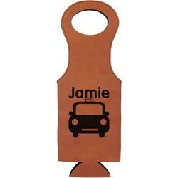 Transportation Leatherette Wine Tote (Personalized)