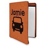 Transportation Leatherette Zipper Portfolio with Notepad (Personalized)