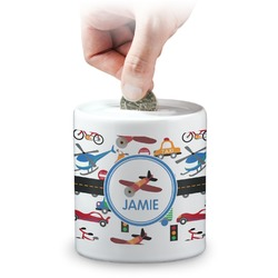Transportation Coin Bank (Personalized)