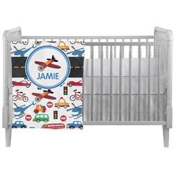 Transportation Crib Comforter / Quilt (Personalized)