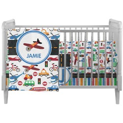 Transportation Crib Comforter / Quilt (Personalized)