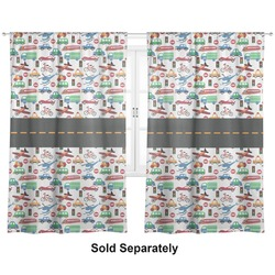"Transportation Curtains - 20""x54"" Panels - Lined (2 Panels Per Set) (Personalized)"
