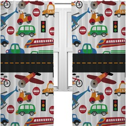 Transportation Curtains (2 Panels Per Set) (Personalized)