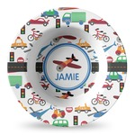 Transportation Plastic Bowl - Microwave Safe - Composite Polymer (Personalized)
