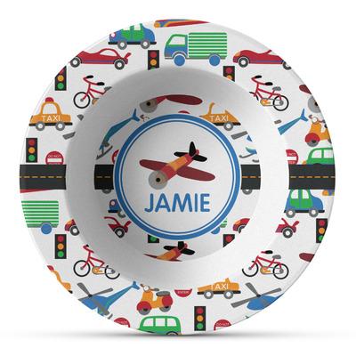Transportation Plastic Bowl - Microwave Safe - Composite Polymer (Personalized)