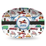Transportation Plastic Platter - Microwave & Oven Safe Composite Polymer (Personalized)