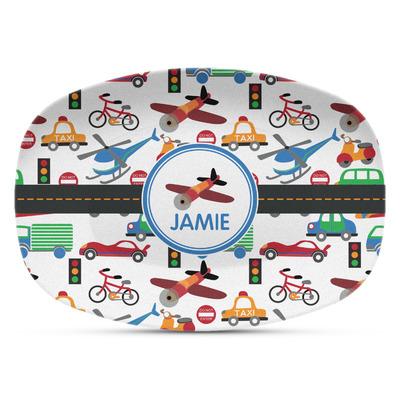 Transportation Plastic Platter - Microwave & Oven Safe Composite Polymer (Personalized)