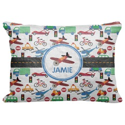 "Transportation Decorative Baby Pillowcase - 16""x12"" (Personalized)"