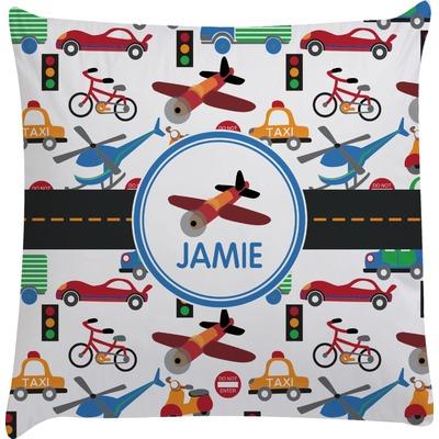 Transportation Decorative Pillow Case (Personalized)