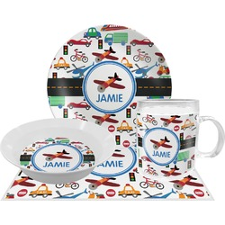 Transportation Dinner Set - 4 Pc (Personalized)
