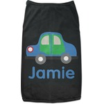 Transportation Black Pet Shirt (Personalized)