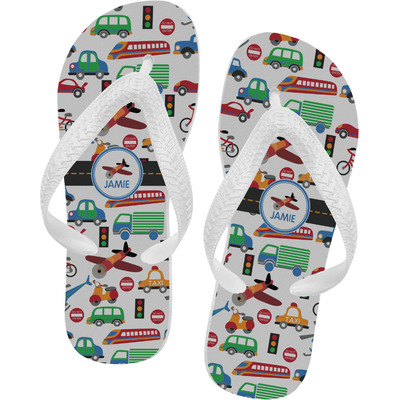 Transportation Flip Flops (Personalized)