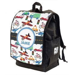 Transportation Backpack w/ Front Flap  (Personalized)