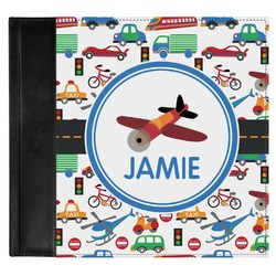 Transportation Genuine Leather Baby Memory Book (Personalized)