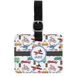 Transportation Genuine Leather Rectangular  Luggage Tag (Personalized)