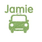 Transportation Glitter Iron On Transfer- Custom Sized (Personalized)