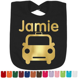 Transportation Foil Toddler Bibs (Select Foil Color) (Personalized)