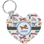 Transportation Heart Keychain (Personalized)