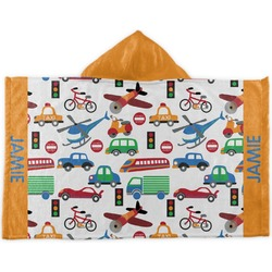 Transportation Kids Hooded Towel (Personalized)