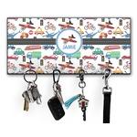 Transportation Key Hanger w/ 4 Hooks (Personalized)