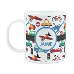 Transportation Plastic Kids Mug (Personalized)