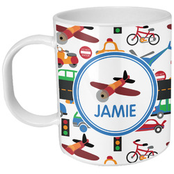 Transportation Plastic Kids Mug (Personalized)