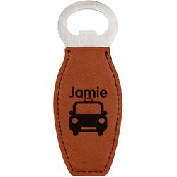 Transportation Leatherette Bottle Opener (Personalized)
