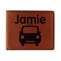 Transportation Leatherette Bifold Wallet (Personalized)