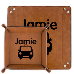 Transportation Faux Leather Valet Tray (Personalized)
