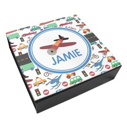 Transportation Leatherette Keepsake Box - 8x8 (Personalized)