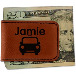 Transportation Leatherette Magnetic Money Clip (Personalized)