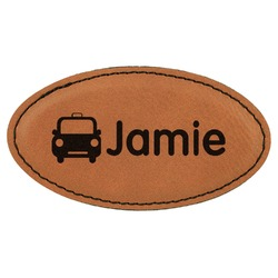 Transportation Leatherette Oval Name Badge with Magnet (Personalized)