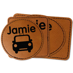 Transportation Faux Leather Iron On Patch (Personalized)